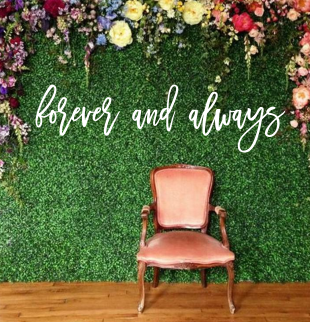 forever and always | Wall Script | Cursive | Wedding | Above Bed Boxwood | Showe