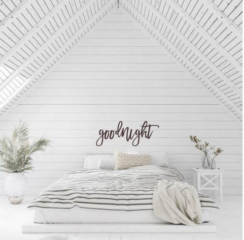 goodnight Metal Wall Word