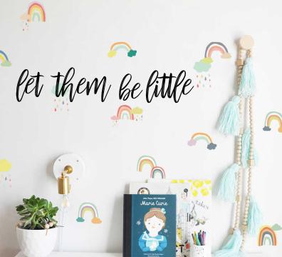 let them be little wall script  | DIY