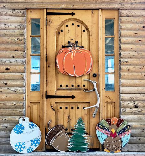 Pumpkin Door Hanger Blank - Paint by Line