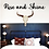 Thumbnail: rise and shine 3-d sign above bed | Farmhouse script | Cursive | Cottage Room |