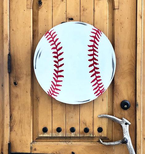 Baseball Wooden Blank Door Hanger