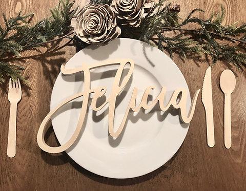 Wood Names - Wedding Table Decor