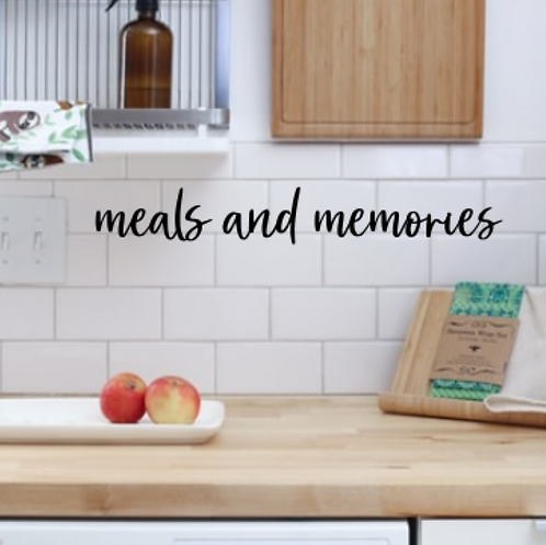 meals and memories kitchen wall phrase sign | Wall hanging | Kitchen Decor | Far