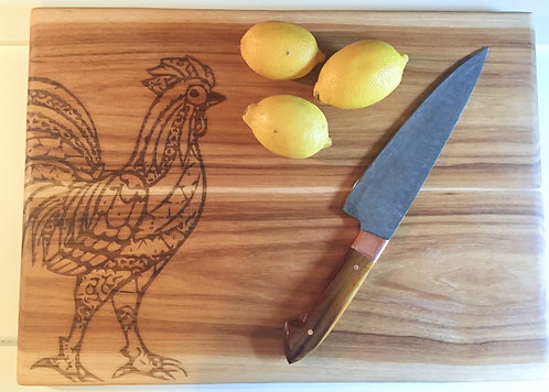 Custom Wood Cutting Board - Oak