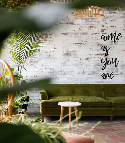 come as you are | Wall Script | DIY |