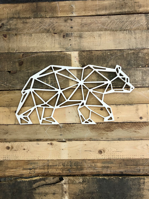 Bear geometric wall art decor- 3 Options