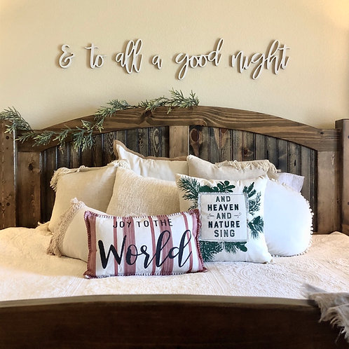 & to all a good night wooden wall phrase