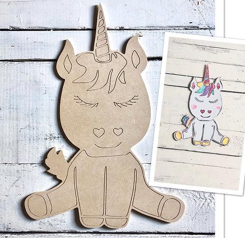 Unicorn / Paint by Line