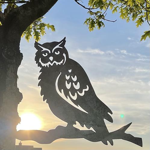Owl Metal Bird Art