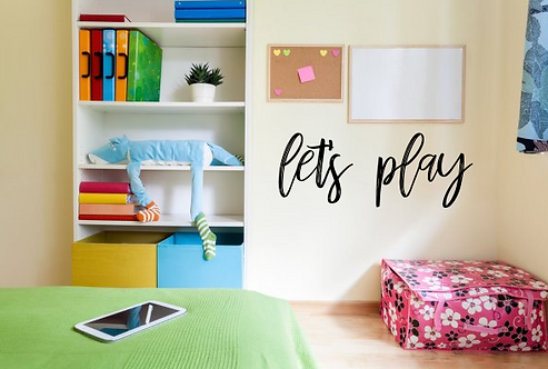 let's play 3-d wall sign | playroom wall decor | Kids room | Home and Living | W