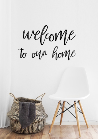 welcome to our home wall script 3-d sign | Farmhouse entry sign | Custom | Gift