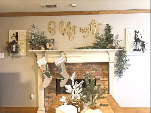 O Holy Night - huge wood letters- DIY