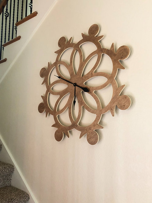 Oversized Wooden Clock