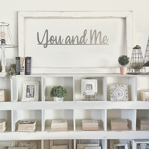 You and Me Metal Wall Sign
