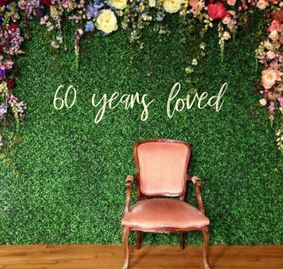 years loved sign | Birthday Backdrop sign | Sixty | Seventy | sweet sixteen | Cu