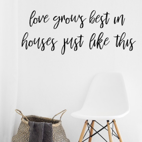 love grows best in houses just like this 3-d sign | Farmhouse wall hanging sign