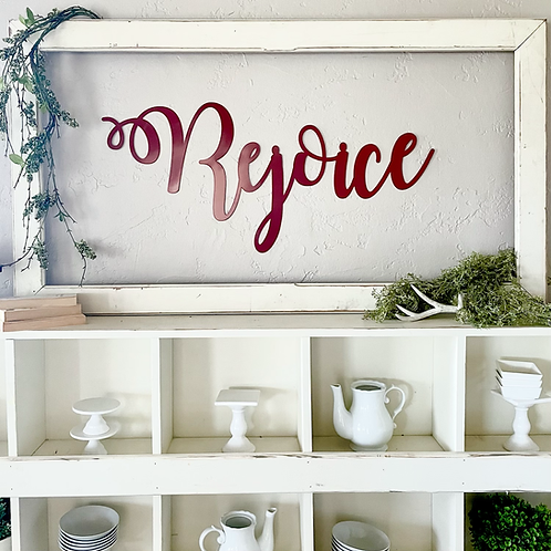 Rejoice Meal sign - large  not painted
