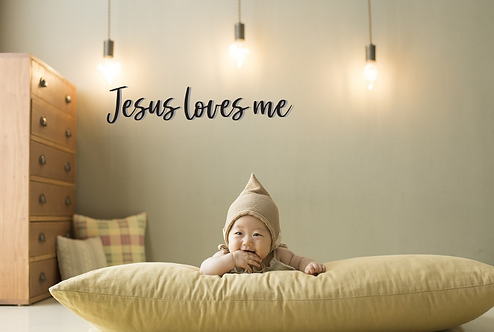 Jesus loves me | DIY sign | Craft | Nursery Wall | New mom | Baby Shower | Whole