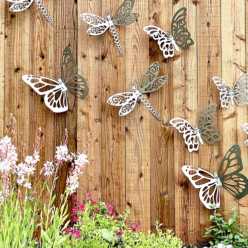 Metal dragonfly Outdoor Fence Art