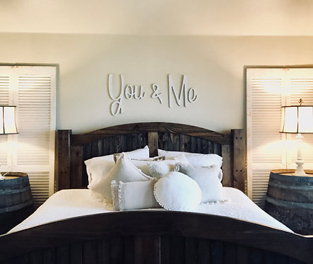 You and Me Cursive Wood Cut Out