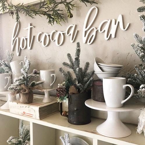 Hot cocoa bar Wood script