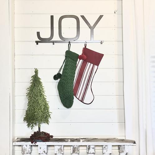 Joy Metal Stocking Hanger