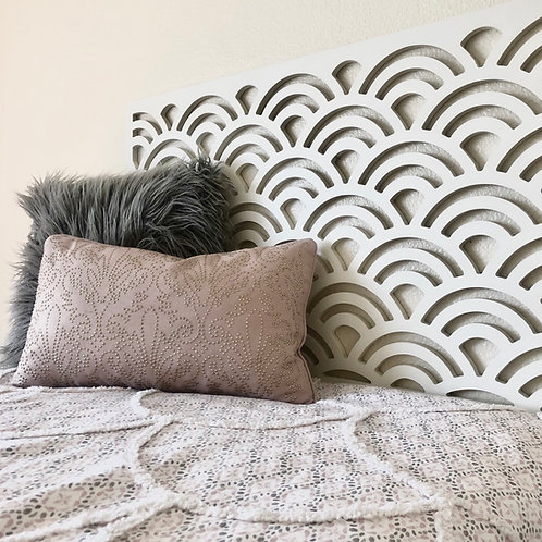 Twin Headboard | Dorm Room | Girl Bed | Pattern Design Trend | Wall Hanging | Rh