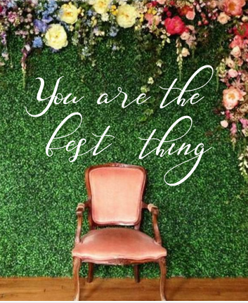 You are the best thing - Wedding & Party Decor - Hanging Sign