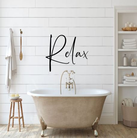 Relax Metal Wall Sign