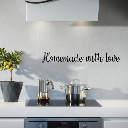 Homemade with love Kitchen Sign | Wall Decor Hanging | Wall Phrase | Home and li