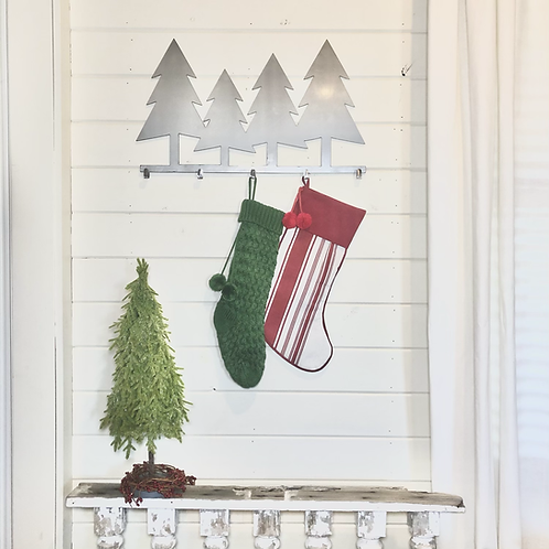Christmas Tree Metal Stocking Hanger