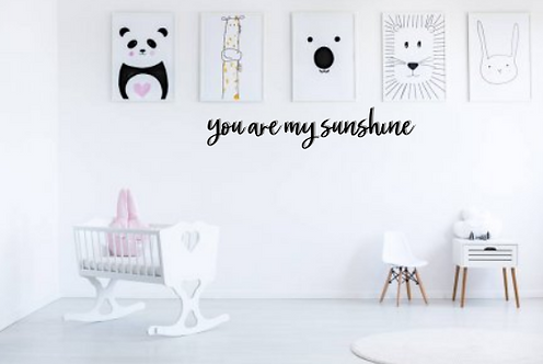 you are my sunshine | Wall Script | Words | Letters | DIY