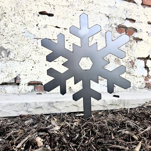 Metal Snowflake Yard Stake
