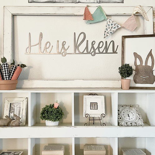 He is Risen Meal Sign
