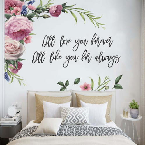 I'll love you forever I'll like you for always | Nursery | Kid | Wall Sign | Wal