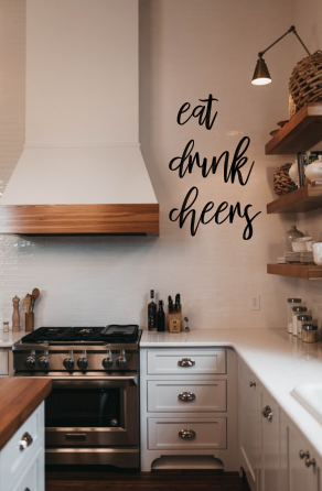Eat & Drink Word Wall Art Kitchen Sign   Gift   Wall Hanging   New Home   Housew