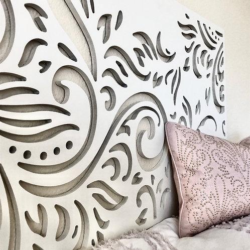 Twin Headboard Design | Dorm Room | Wall Hanging Scroll Design | kid Bed | Flora