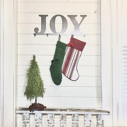 Metal Joy Stocking Holder