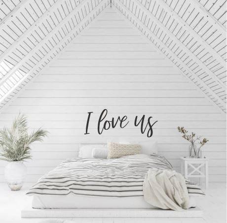 I love us - Huge Wall Script