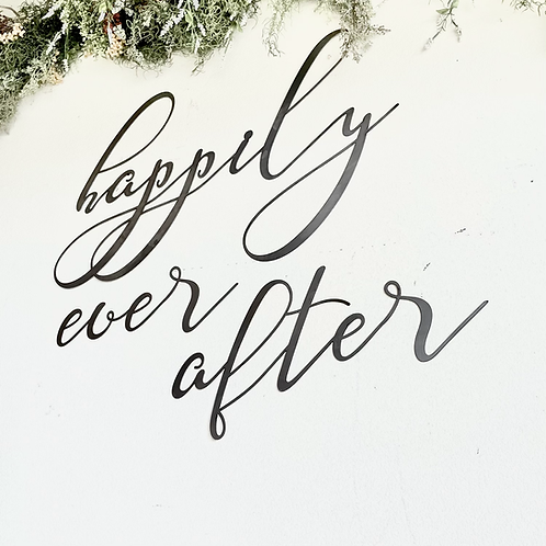Happily ever after Large Metal Sign