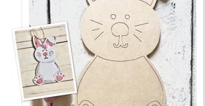 Easter Bunny DIY door hanger