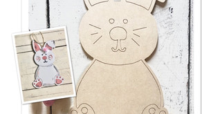 Easter Bunny DIY door hanger