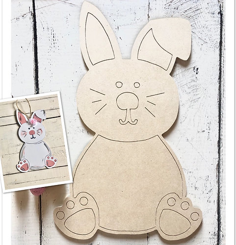 Easter Bunny Door Hanger / Paint by Line
