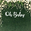 Thumbnail: oh baby wall script | Wall word | letters | plaque | Backdrop | baby shower | Cu