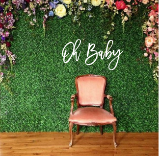 oh baby wall script | Wall word | letters | plaque | Backdrop | baby shower | Cu