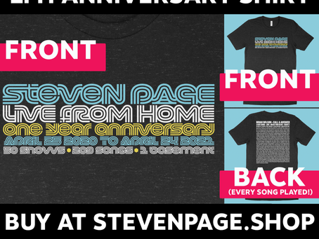 New Merch! Happy 1 Year Anniversary Live From Home!
