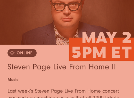 Next Live From Home Concert - Saturday May 2, 5pm ET ON SALE NOW!