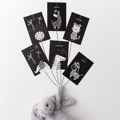 Kontrastne kartice za dojenčka