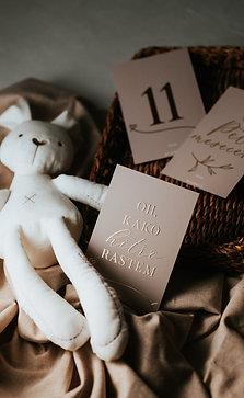 Baby milestone kartice